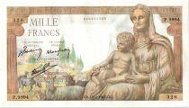 France 1000 Francs Demeter - 18-11-1943 Serial P.9994