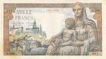 France 1000 Francs Demeter - 20-05-1943 - Serial O.5697 - F to VF
