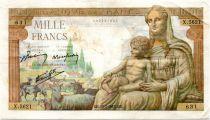 France 1000 Francs Demeter - 20-05-1943 Serial X.5621