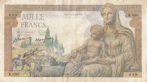 France 1000 Francs Demeter - 20-06-1942 Serial K.686