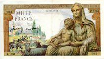 France 1000 Francs Demeter - 22-10-1942 Serial K.1691 - VF
