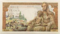 France 1000 Francs Demeter - 23-12-1942 Serial U.2435 - AU