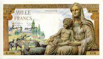 France 1000 Francs Demeter - 24-09-1942 Serial D.1426 - VF