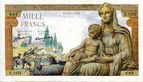 France 1000 Francs Demeter - 24-09-1942 Serial E.1433 - VF