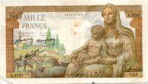 France 1000 Francs Demeter - 28-01-1943 Serial A.3707