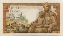 France 1000 Francs Demeter - 28-01-1943 Serial R.3555 - AU+