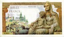 France 1000 Francs Demeter - 28-01-1943 Serial S.3511 - VF