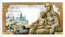 France 1000 Francs Demeter - 28-05-1942 Serial F.142 -V F