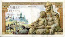 France 1000 Francs Demeter - 28-05-1942 Serial K.119 - F
