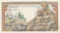 France 1000 Francs Goddess Demeter - 28-01-19432 - Serial G.3214