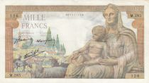 France 1000 Francs Goddess Demeter - 28-05-1942 - Serial M.285