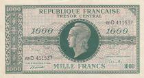 France 1000 Francs Marian - 1945 - Serial 69 D
