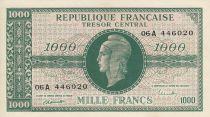 France 1000 Francs Marian - 1945 Letter A - Serial 06 A 446020