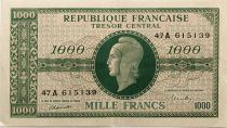 France 1000 Francs Marian - 1945 Letter A - Serial 47 A - XF