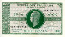 France 1000 Francs Marian - 1945 Letter A - Serial 65 A - AU