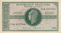 France 1000 Francs Marian - 1945 Letter A - Serial 77 A 602764