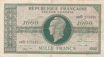 France 1000 Francs Marian - 1945 Letter D - Serial 02 D
