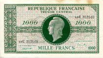 France 1000 Francs Marian - 1945 Letter E - Serial 18 E - VF