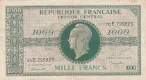 France 1000 Francs Marian - 1945 Letter E - Serial 55E