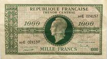France 1000 Francs Marian - 1945 Letter E - Serial 99 E - VF