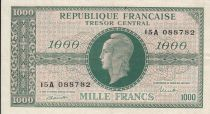 France 1000 Francs Marianne - 1945 Letter A - Serial 15 A - VF+
