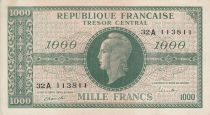 France 1000 Francs Marianne - 1945 Letter A - Serial 32 A - VF+