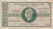 France 1000 Francs Marianne - 1945 Letter E- Serial 02 E - F+