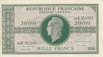France 1000 Francs Marianne - 1945 Letter E- Serial 24 E -  XF+