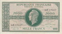 France 1000 Francs Marianne - 1945 Letter E- Serial 59 E - VF+