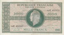 France 1000 Francs Marianne - 1945 Letter E- Serial 76 E - F to VF