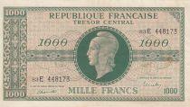 France 1000 Francs Marianne - 1945 Letter E- Serial 83 E -  VF