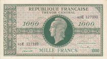 France 1000 Francs Marianne - 1945 Letter E- Serial 85 E -  XF+