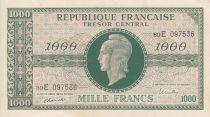 France 1000 Francs Marianne - 1945 Letter E- Serial 89 E -  XF