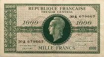 France 1000 Francs Marianne - 1945 Lettre A - Série 30 A - TTB