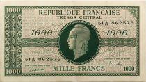 France 1000 Francs Marianne - 1945 Lettre A - Série 51 A - TTB+