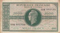 France 1000 Francs Marianne - 1945 Lettre A - Série 53A - TB+