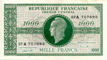 France 1000 Francs Marianne - 1945 Lettre A - Série 57 A - SUP