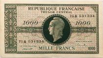 France 1000 Francs Marianne - 1945 Lettre A - Série 75 A - TTB+