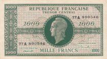 France 1000 Francs Marianne - 1945 Lettre A - Série 77 A - TTB