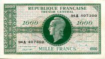 France 1000 Francs Marianne - 1945 Lettre A - Série 94 A - TTB+