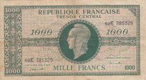 France 1000 Francs Marianne - 1945 Lettre E - Série 02 E - TB+