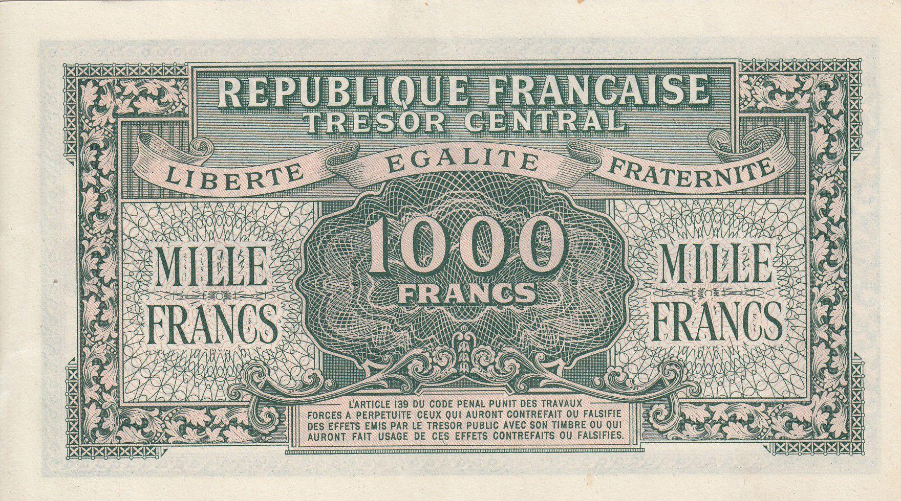 France 1000 Francs Marianne - 1945 Lettre E - Série 24 E - SUP+