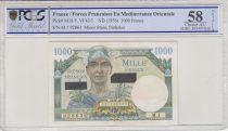 France 1000 Francs Mercure - Suez - 1956 Série M.1 - PCGS AU 58
