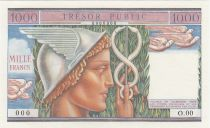 France 1000 Francs Mercury - 1955 - Specimen - AU to UNC