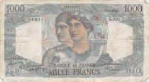France 1000 Francs Minerva and Hercules - 01-09-1949 Serial G.591 - VG to F