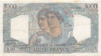 France 1000 Francs Minerva and Hercules - 01-09-1949 Serial H.582 - VF