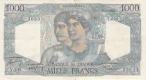 France 1000 Francs Minerva and Hercules - 02-03-1950 Serial Y.636 - F to VF
