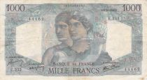 France 1000 Francs Minerva and Hercules - 03-10-1946 Serial E.353 - F to VF