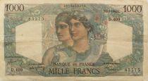 France 1000 Francs Minerva and Hercules - 05-05-1948 Serial D.409 - F+