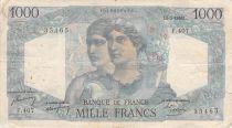 France 1000 Francs Minerva and Hercules - 05-05-1948 Serial F.407 - F+